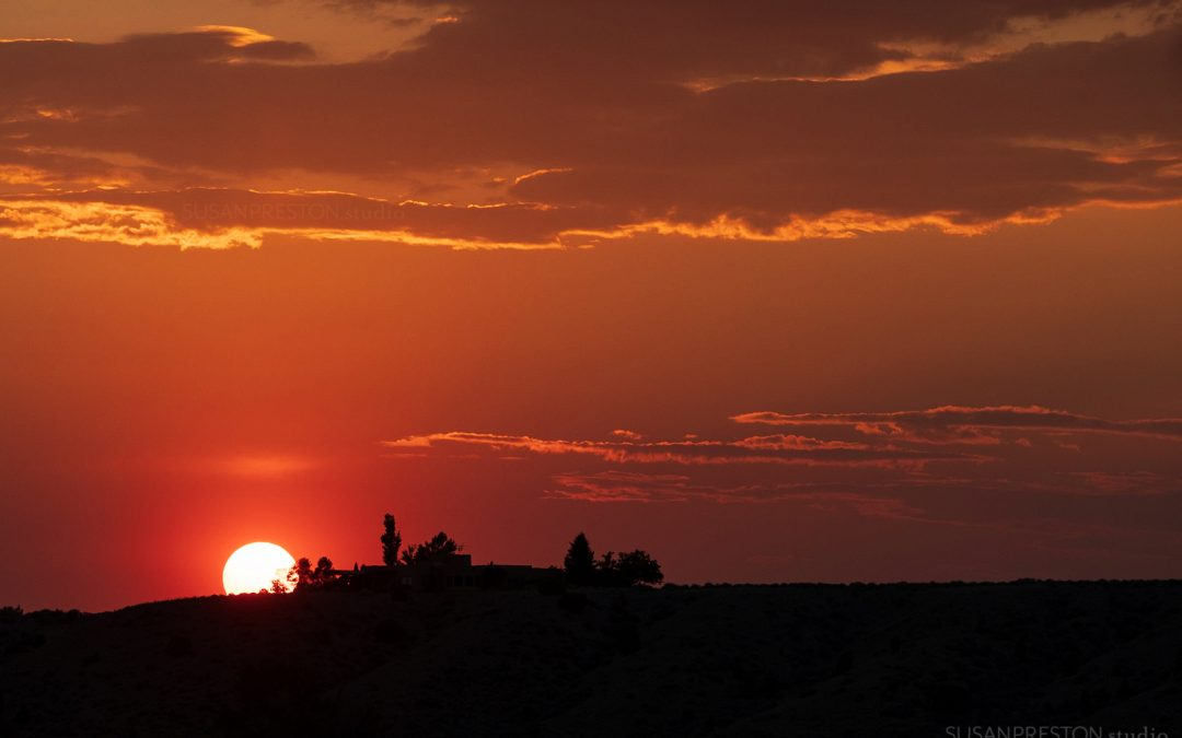 Fire Sunset in Taos